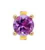 Endless Jewelry Round Amethyst Gelbgold