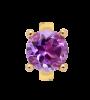 Endless Jewelry Round Amethyst Gelbgold