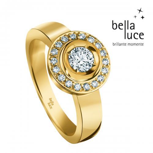 Bella Luce Ring,585/-GG 18Br. zus. ca.0,40ct W-SI, 18Br. ca. 0,15ct W-