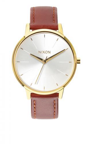 Nixon Kensington Leather, Gold/ Saddle