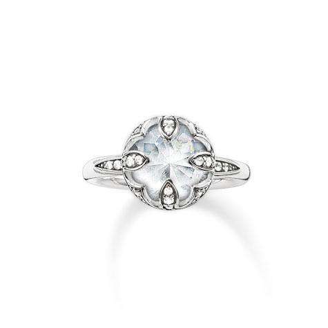 Thomas Sabo Sterling Silver Ring 925 Sterlingsilber, geschwärzt/ Zirko