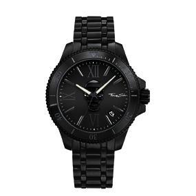 Thomas Sabo Watches 44 TS WA Armbanduhr, rund, Quarz,ZB schwarz