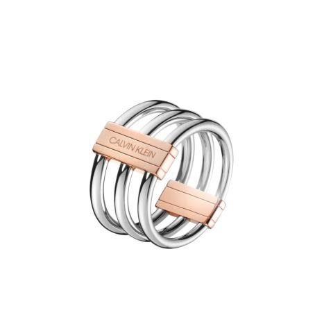 CALVIN KLEIN Ring Insync Edelstahl bicolor