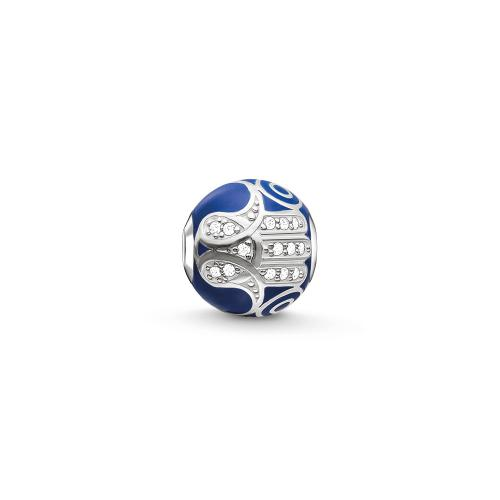 Thomas Sabo KARMA BEAD Blaue Fatimas Hand