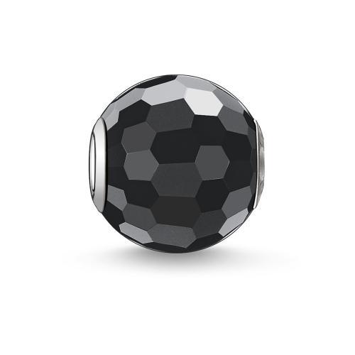Thomas Sabo KARMA BEADS Obsidian facettiert 925 Sterlingsilber/ Obsidi