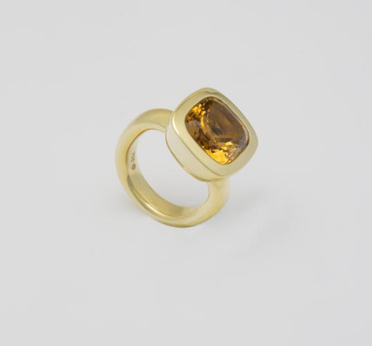 Odenwald Ring Gelbgold 750 mit Citrin