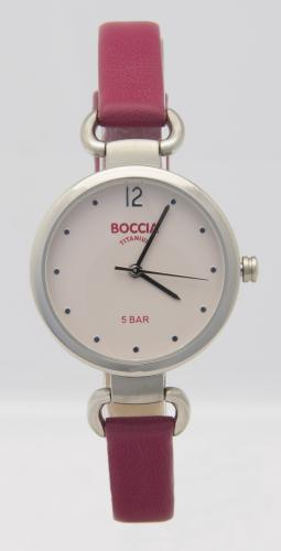 Boccia Uhr mit Lederband