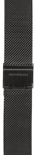 Watchpeople Armband 18mm Milanaise schwarz