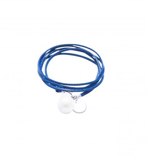 Marina Armband blau 57cm Süßwasserperle ca. 2cm