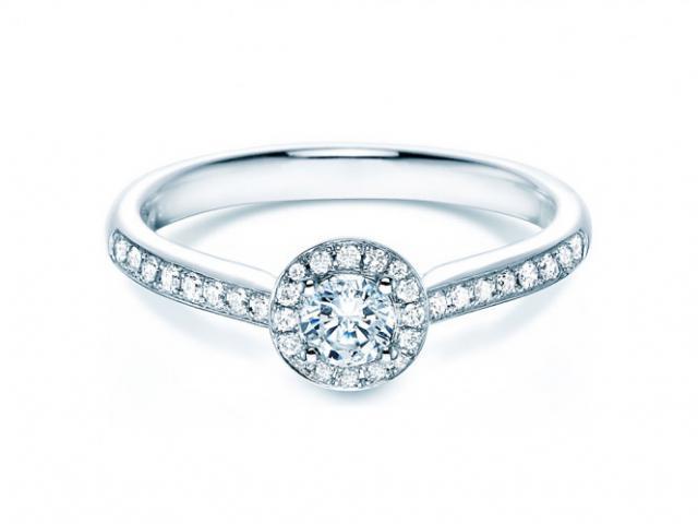 Rivoir Ring Brill 0,25ct TW/SI 750/-WG