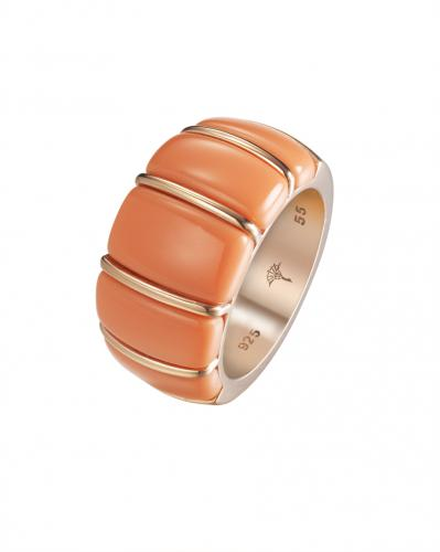 CORAL Ring si 925 RG platiert
