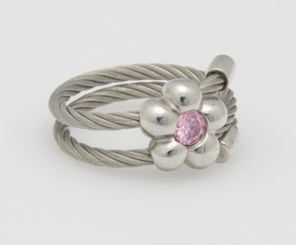 Charriol-Ring 925/Stahl Zirkonia