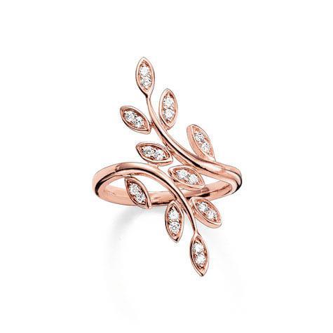 Thomas Sabo Sterling Silver Ring 925 Sterlingsilber, vergoldet Roségol
