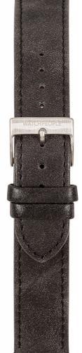 Watchpeople Armband 18mm Leder schwarz