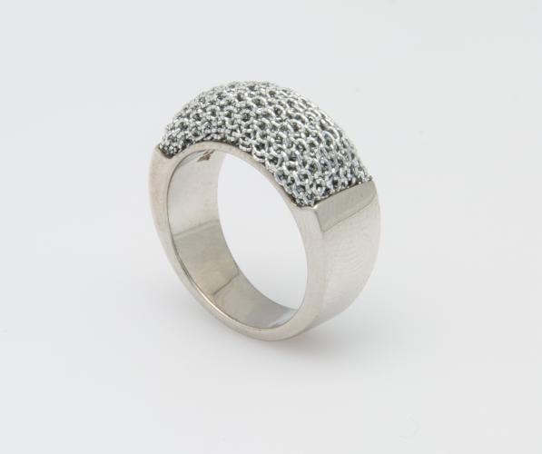 Ring Optik Gewebe Geflecht metallisiert