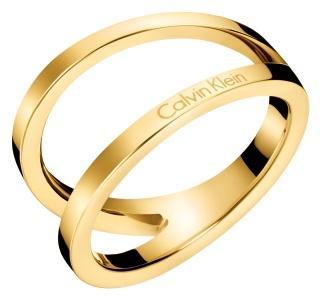 Ck Ring Edelstahl GG vergoldet