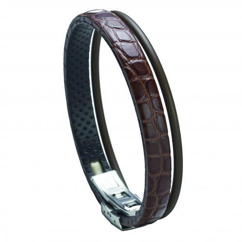 Wendestein Armband Alligator braun 175mm