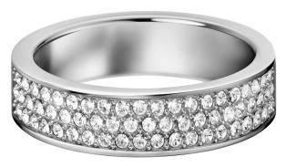 CALVIN KLEIN Ring Hook Edelstahl poliert mit weißen Swarovski Kristals