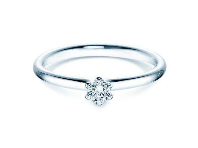 Rivoir Ring Brill 0,15ct TW/SI 585/-WG