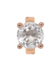 Endless Round Crystal Quartz Rose Gold