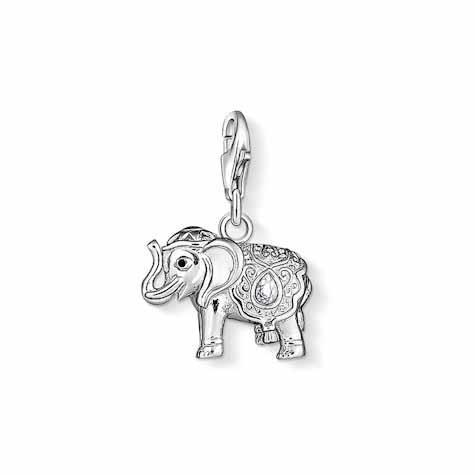 Thomas Sabo Charm Club Elefant 925 Sterlingsilber, Kaltemail/ Zirkonia