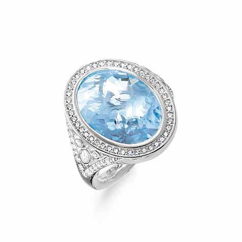 Thomas Sabo Sterling Silver Ring 925 Sterlingsilber/ synthetischer Spi